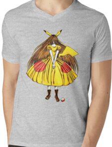 Lady Pikachu Mens V-Neck T-Shirt
