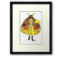 Lady Pikachu Framed Print