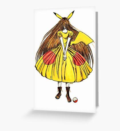Lady Pikachu Greeting Card