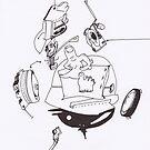 Petits Dessins Debiles - Small Weak Drawings#? - 2008/10/31 by Pascale Baud