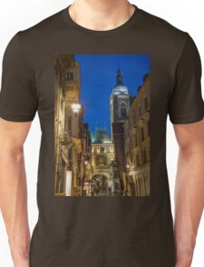 France. Normandy. Rouen. The Great Clock at Night. Unisex T-Shirt