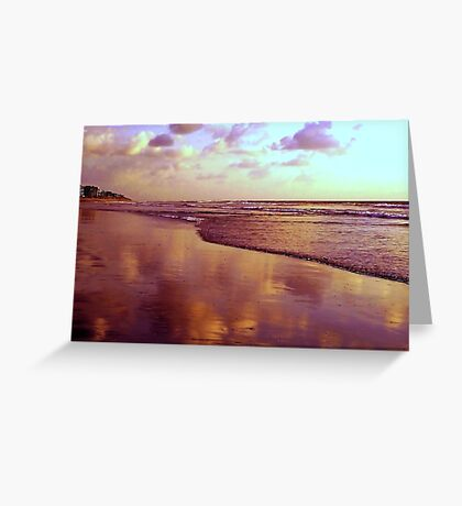 Clouds In The Sand Greeting Card