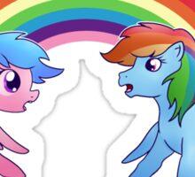 Generation Swap - Rainbow Dash and Firefly Sticker