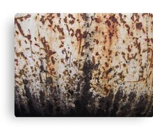 Rusted Metal White and Black Canvas Print