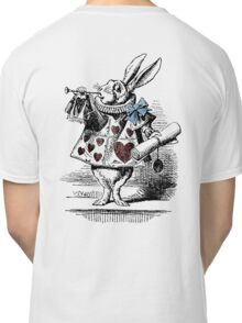 White Rabbit from Alice's Adventures in Wonderland Classic T-Shirt