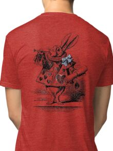 White Rabbit from Alice's Adventures in Wonderland Tri-blend T-Shirt