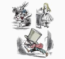 Alice in Wonderland Montage T Shirt by simpsonvisuals