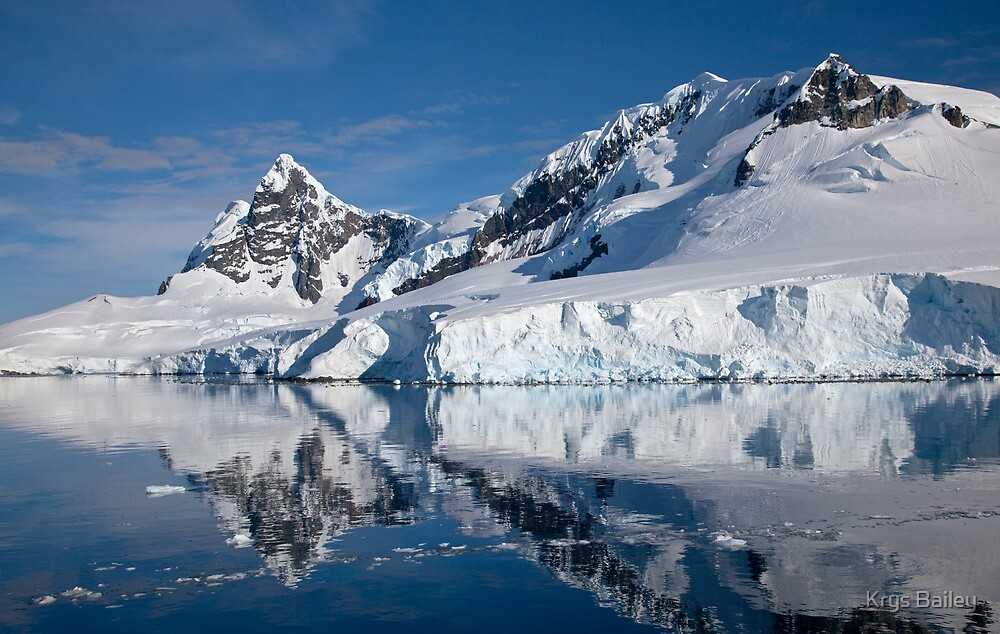 Reflections of Paradise (Paradise Bay, Antarctica) by Krys Bailey