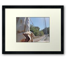 limp bridge  Framed Print