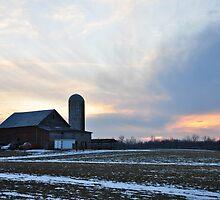Parker City Farm sunset by mltrue