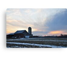 Parker City Farm sunset Canvas Print