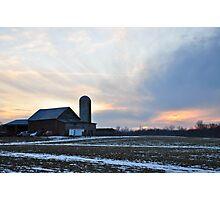 Parker City Farm sunset Photographic Print