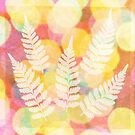 Five Ferns - Mixed Media by Bethany Helzer