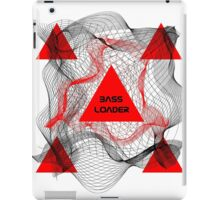 """""""Bass Loader"""" Red Triangle iPad Case/Skin"""