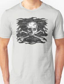 Old Crossbones Skull Pirate Flag Unisex T-Shirt