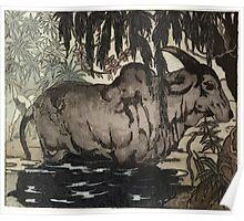 Maurice de Becque Livre de la jungle, p94 Poster