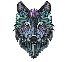 Ornate Wolf (Full Colored) by psydrian