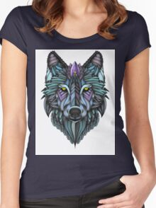 Ornate Wolf (Full Colored) Women's Fitted Scoop T-Shirt