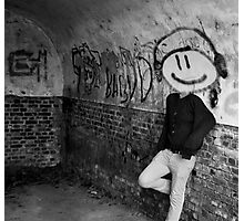 Graffiti Head Photographic Print