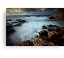 Bubbling sea Canvas Print