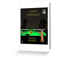 The Scream World Tour Tennis tour bus Happy birthday Greeting Card
