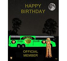 The Scream World Tour Tennis tour bus Happy birthday Photographic Print