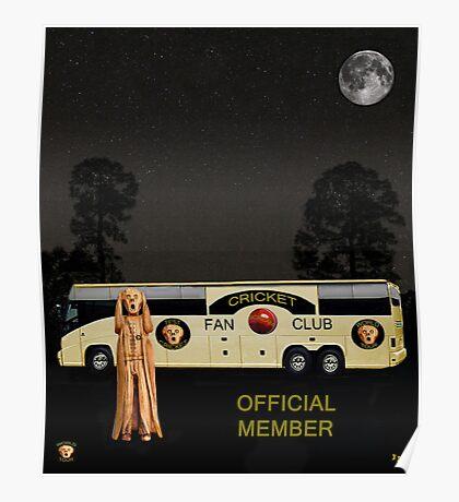 The Scream World Tour Cricket  tour bus Poster