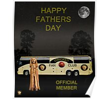 The Scream World Tour Cricket  tour bus Happy Fathers Day Poster