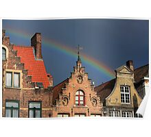 Bruges Rainbow Poster