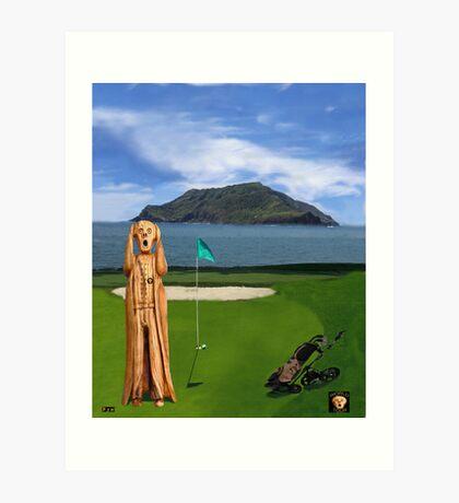 The Scream World Tour Golf   Art Print