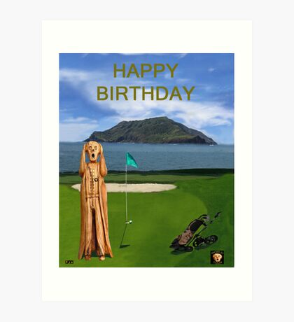 The Scream World Tour Golf  Happy Birthday Art Print