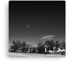 FULL MOON OVER PIE TOWN MOTEL Canvas Print
