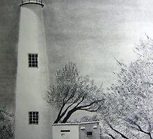 Ocracoke Lighthouse by Debbie  Adams