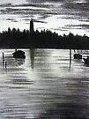 Ocracoke Lighthouse at Sunset by Mitch Adams
