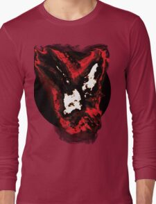 Red and white phoenix flying away from blackhole Long Sleeve T-Shirt