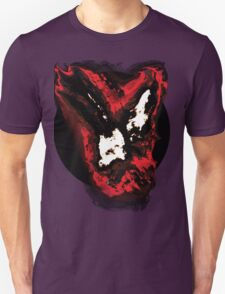 Red and white phoenix flying away from blackhole T-Shirt