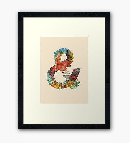 Psychedelic Ampersand Framed Print