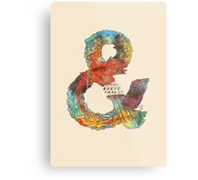 Psychedelic Ampersand Metal Print