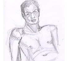 Life Model Sketch  Photographic Print