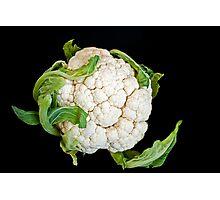 Cauliflower isolated on black  Photographic Print