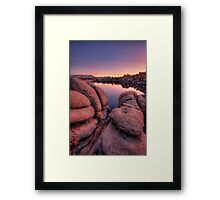 Purple Peek Framed Print