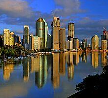 Brisbane River and City at dawn. Queensland, Australia.(7) by Ralph de Zilva