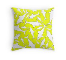Shark BW Throw Pillow