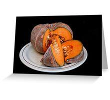 Pumpkin on black background Greeting Card