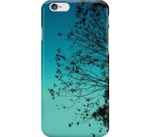 Turquoise Sky & Leaves iPhone Case/Skin