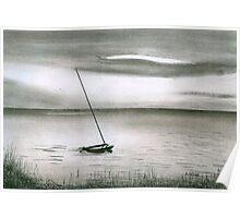 Catamaran at Sunset Poster