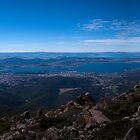 Hobart from Mt Wellington by David  Kembrey