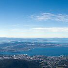 View of Hobart from Mt Wellington by David  Kembrey