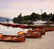 boats on Lake Windermere by Malcolm Marshall