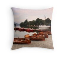 boats on Lake Windermere Throw Pillow